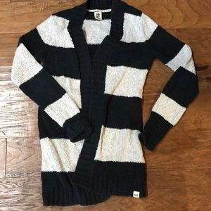 Roxy cardigan striped sweater grey/charcoal